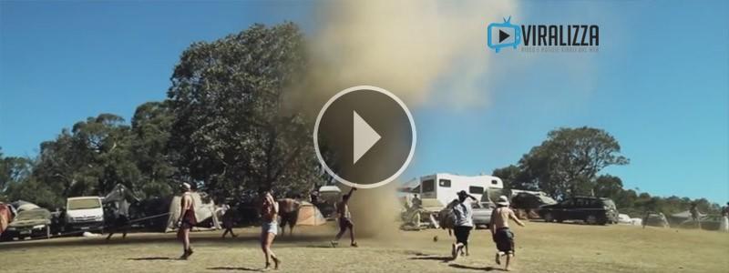 mini tornado australia